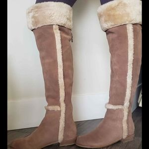 Shoes - *2/$150* *NEW* BCBG over the knee suede boots